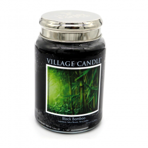 Candela Village Candle Black bamboo 170h