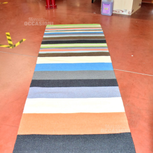 Carpet Wool Lines Colored 82x250