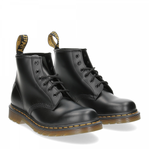 Dr. Martens Anfibio Uomo 101 black smooth yellow stich
