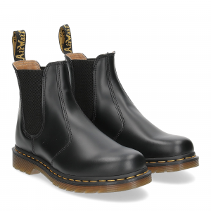Dr. Martens Beatles Uomo 2976 black smooth yellow stich