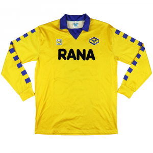 1991-92 Hellas Verona Maglia Away Match worn vs Ac Milan #5 E.Rossi XL (Top)