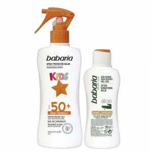 Babaria Sun Kids Sunscreen Lotion Water Resistant Spf50 Spray 200ml Set 2 Parti 2020