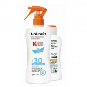 Babaria Sun Kids Sunscreen Lotion Water Resistant Spf30 Spray 200ml Set 2 Parti 2020