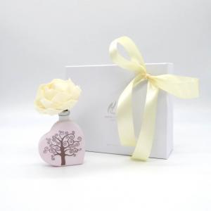 Diffusore fragranza cuore con fiore di carta e albero della vita  50ml