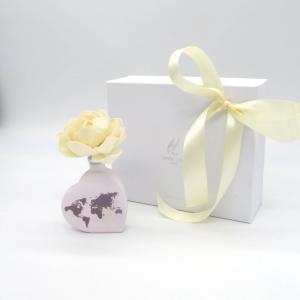 Diffusore fragranza cuore Mondo con fiore 50ml