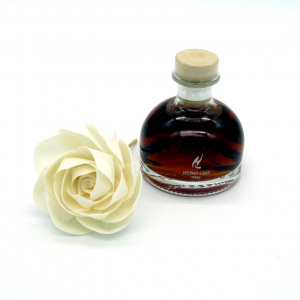 Diffusore fragranza sandalo nobile 100ml con fiore carta Hypno