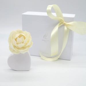 Diffusore fragranza cuore bianco con fiore 50ml