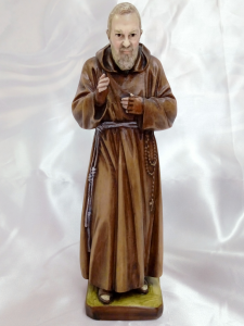 Statua Made in Italy Padre Pio da Pietrelcina cm.30 in marmo resina decorata a mano per interno-esterno