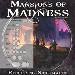 Mansions of Madness 2nd Ed. Recurring Nightmares Clear Bases (x26)