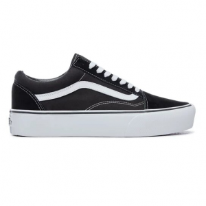 Vans Old Skool Platform Black White