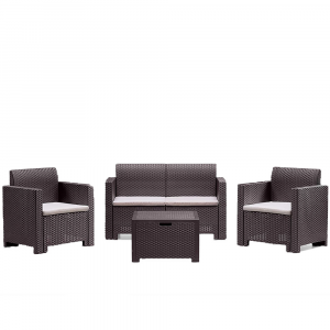 Set Rattan Sintetico Nebraska Marrone