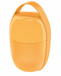 ALESSI LUNCH BOXER FOOD A PORTER A 2 SCOMPARTI IN RESINA TERMOPLASTICA COLORE GIALLO DESIGN  SAKURA ADACHI SA03 Y