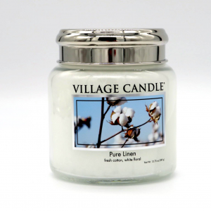 Candela Village Candle pure linen 105h