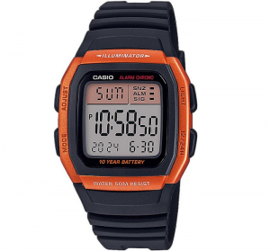 Casio Collection multifunzione, nero e arancione