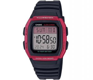 Casio Collection multifunzione, nero e bordeaux
