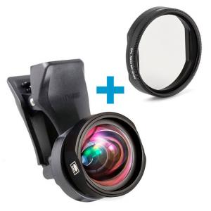 Obiettivo per smartphone 18mm + filtro