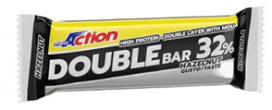Proaction Double Bar 32% Nocciola Caramello Barretta 60 G