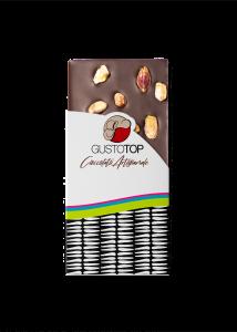 Tavoletta di Cioccolato fondente 72% con Pistacchio  confezione da 120 gr