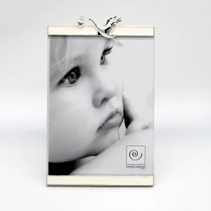 Cornice portafoto 13x18 con cicogna silver