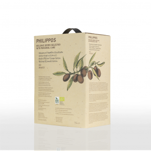 PHILIPPOS BIO Extra Virgin Olive OIl 3L bag-in-box