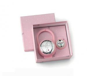 LeBebé Kit Pinza e Portaciuccio Linea Blasone - rosa