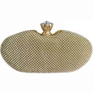 Borsa gioiello dorata | Pochette da cerimonia