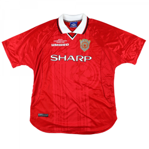 1999-00 MANCHESTER UNITED MAGLIA Champions League #7 BECKHAM XL (Top)