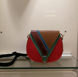 Borsa in pelle multicolor prodotta in India | Accessori moda donna online