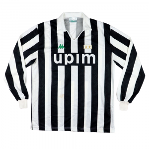 1991-92 Juventus Maglia Match worn vs Ac Milan #14 Di Canio XL (Top)