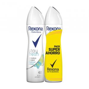 Rexona Deodorante Motion Sense Stay Fresh Antitraspirante 0% Alcool Spray 2x200ml