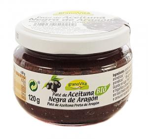 Granovita Pate Aceitunas Negras De Aragon 120g