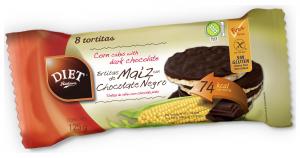 Diet Radisson Tortitas De Maiz Chocolate Negro Sin Gluten 125g