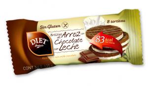 Diet Radisson Tortitas Arroz y Chocolate Con Leche Sin Gluten 135g