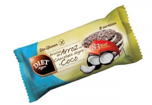 Diet Radisson Tortitas Arroz Chocolate Negro y Coco Sin Gluten 135g