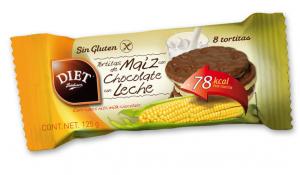 Diet Radisson Tortitas De Maiz Chocolate Con Leche Sin Gluten 125g