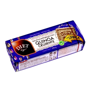 Diet Radisson Galletas Integrales Con Quinoa Crujiente 220g