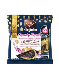 Diet Radisson Barritas De Arroz y Maíz Con Chocolate Negro Sin Gluten 68g