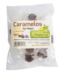 Green Mancha Caramelos Miel Ajo Negro y Azafran 100g