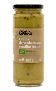 Carlota Organic Crema De Verduras Con Semillas De Lino 450g