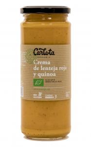 Carlota Organic Crema De Lenteja Roja y Quinoa 450g