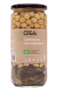 Carlota Organic Garbanzos Con Espinacas 720g