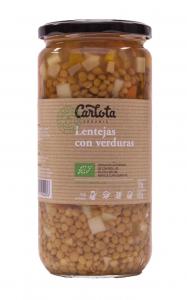 Carlota Organic Lentejas Con Verduras 720g