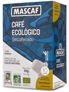 Mascaf Bio Café Cápsula Descafeinado 50g