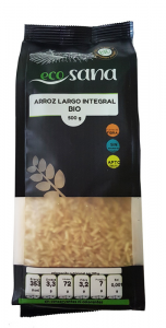 Arroz Largo Integral Bio 500g Ecosana