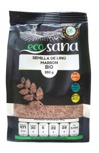 Semilla Lino Marron Bio 250g Ecosana