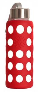 Botella Bbo Roja Borosilicato Con Silicona 300ml Irisana