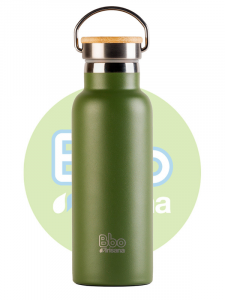 Irisana Botella Bbo Termo Con Tapon Bambu 500ml Verde