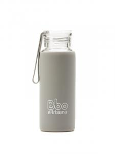 Botella Bbo Gris Borosilicato Con Silicona 330ml Irisana