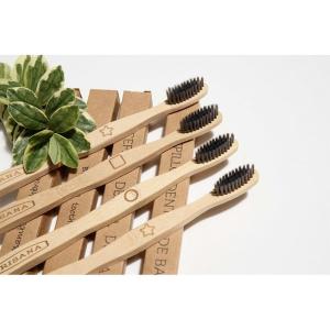 4 Uds Cepillo Dental Irisana Carbon Activo Bambu