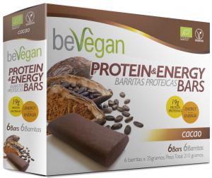 Bevegan Barritas Bio Cacao Protein Energy